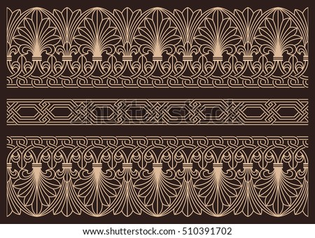 horizontal seamless pattern