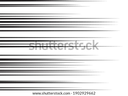 Horizontal Speed Lines for Comic Books. Manga, Anime Graphic Texture. Black and White Vector Background