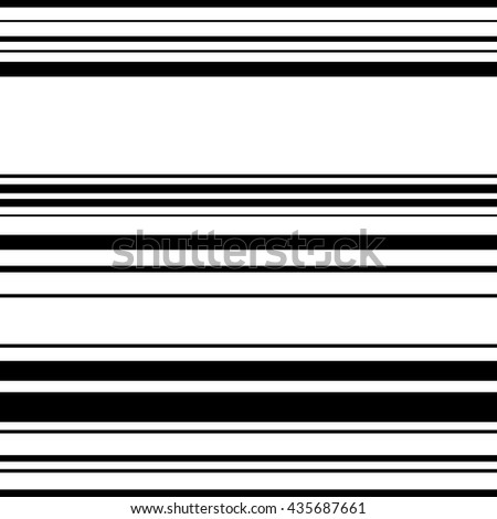 Horizontal straight parallel lines. Abstract monochrome seamlessly repeatable pattern