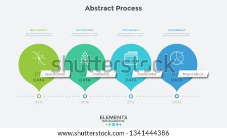 horizontal timeline with 4