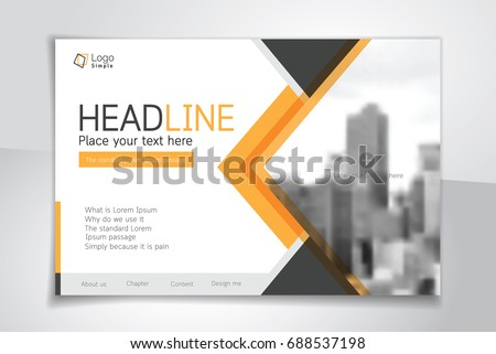 Horizontal vector background template for page covers, flyers, leaflets or advertising billboards - A4 proportion