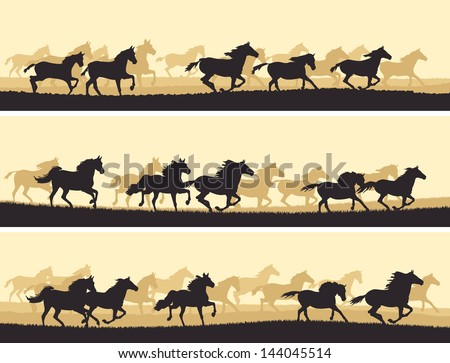 horizontal vector banner
