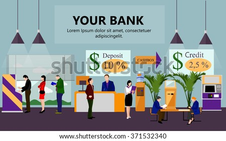 horizontal vector banner with