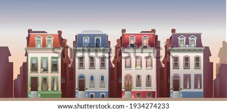 horizontal vector illustration