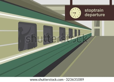 horizontal vector illustration