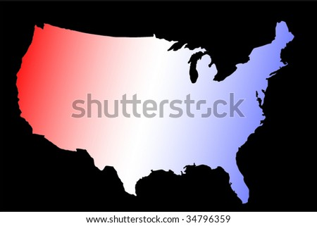 Clipart USA Map Silhouette Blank Outline Map Of USA Download Free - Free vector us map