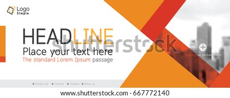 Horizontal web banner background, vector template, with space for your picture #667772140