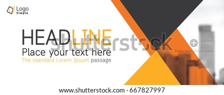 Horizontal web banner background, vector template, with space for your picture #667827997