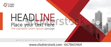 Horizontal web banner background, vector template, with space for your picture #667865464