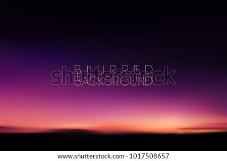 horizontal wide blurred