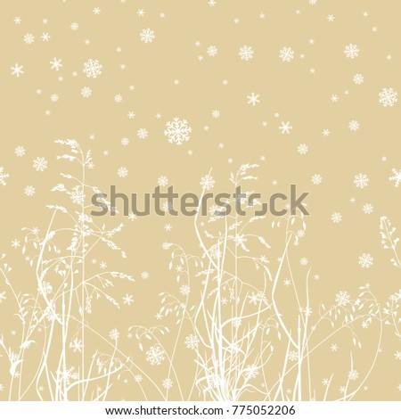 horizontally seamless winter