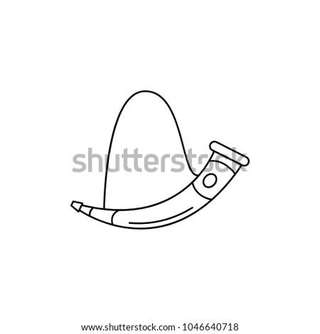horn icon outline horn vector