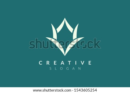 horn logo design with abstract