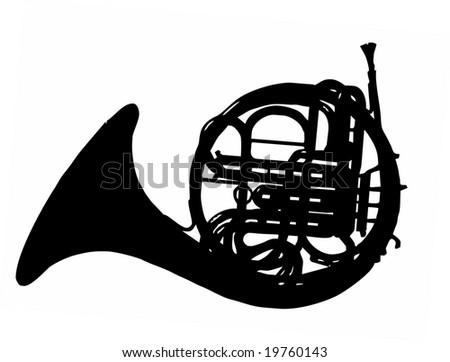 horn silhouette isolated vector illustration