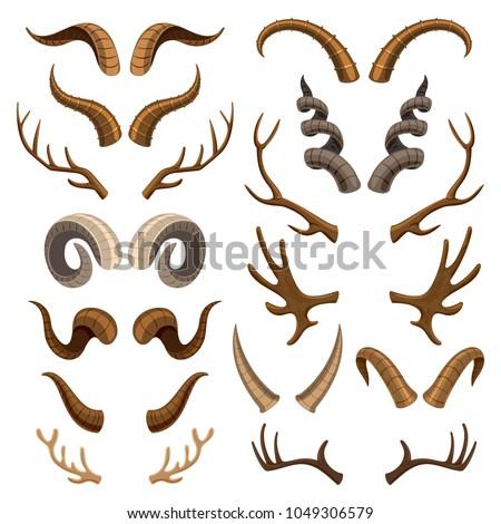 horn vector horned wild animal