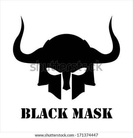 Horned black mask