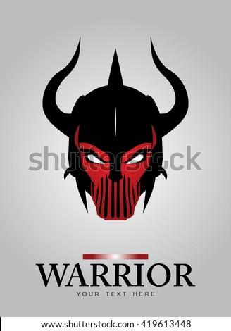 horned head warrior mascot
