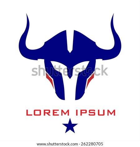 horned mascot horned warrior