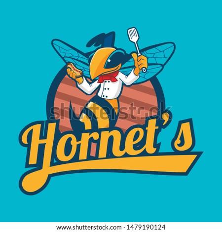 hornet chef character logo