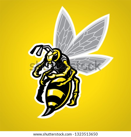 hornet mascot suitable for your team identity