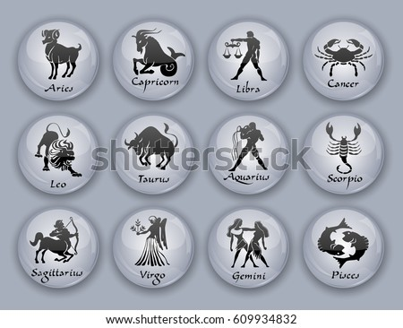 Set of horoscope symbols illustration - Download Free