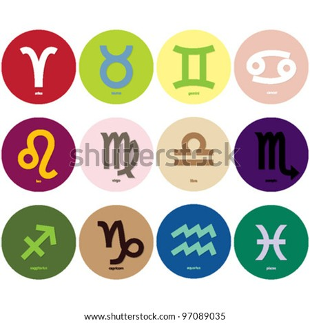 Horoscope signs - symbols