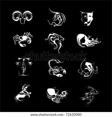 Horoscope signs vector - stock vector