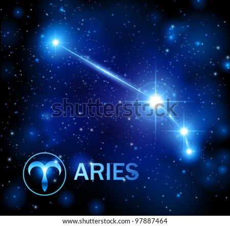 horoscope star sign - aries constellation