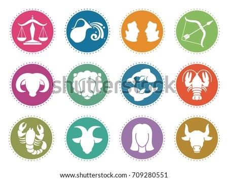 horoscope zodiac vector signs