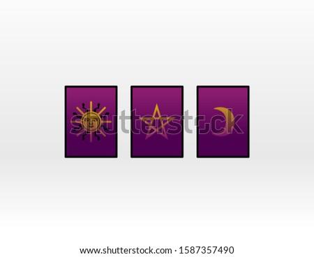 Horoscopes mystical card.  sun and moon. Sacred geometry.