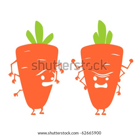 cartoon carrot. Horrible cartoon carrot