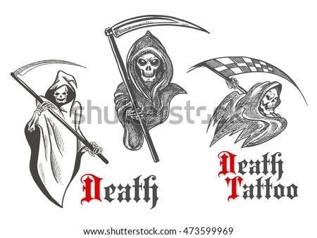 horrifying grim reapers vintage