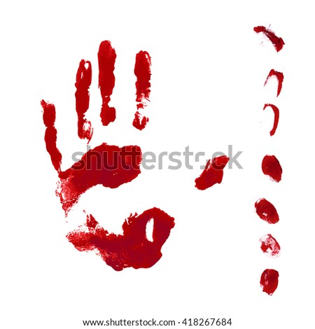horror blood hand and finger
