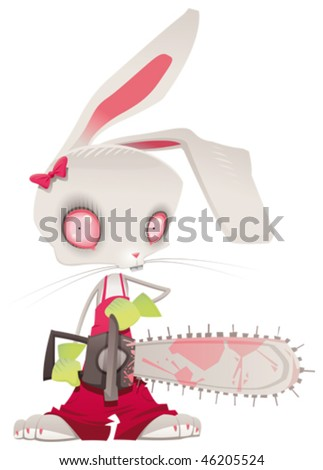 horror bunny vector and