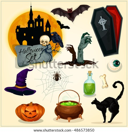 horror decoration elements for