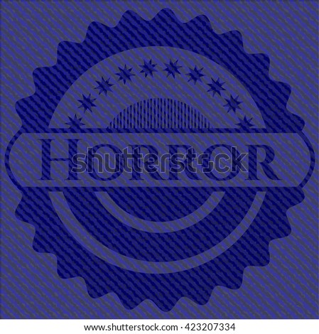 Horror emblem with jean high quality background