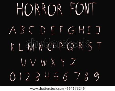 horror font   vector art