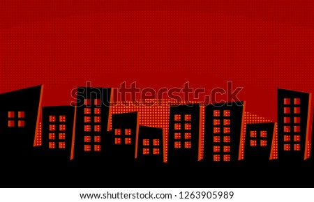 horror in the city background