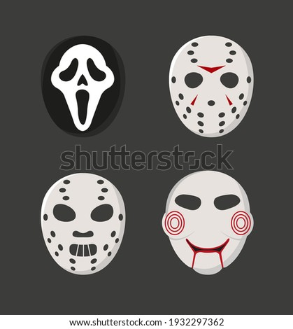 horror movie characters masks