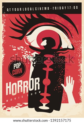 horror movie poster design with