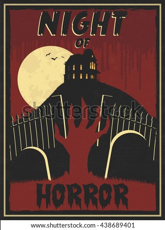 horror movie retro poster