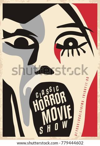 horror movies poster design