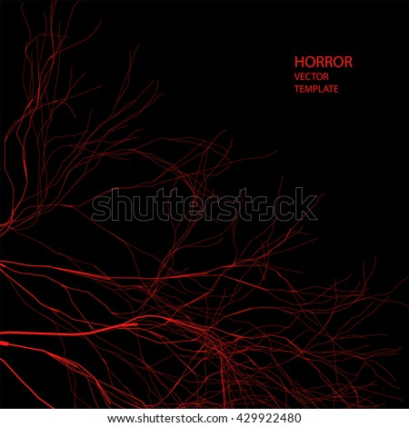 horror vector background red