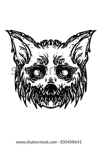 horror vector illustration of