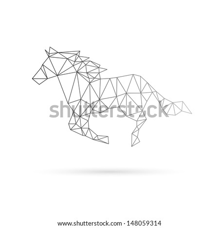 Horse abstract isolated on a white background