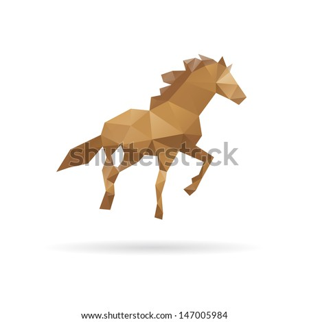 Horse abstract isolated on a white backgrounds - stock vector