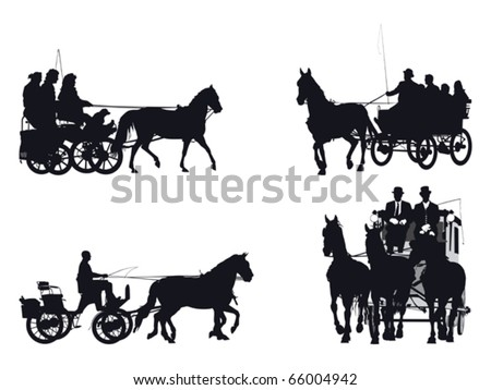 Horse Carriage Silhouette Horse And Carriage Silhouette