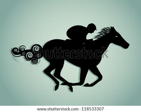 Horse Jockey Logo Horse And Jockey Silhouette