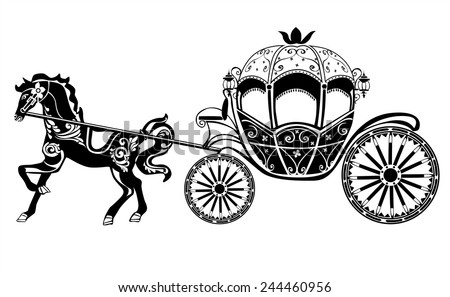 Horse Carriage Silhouette Horse Carriage Silhouette With