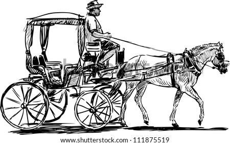 Horse And Carriage Drawing Horse Drawn Carriage